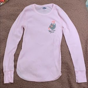 Old navy baby pink Thermal waffle top